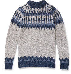 Howlin' - Before the Snowfall Fair Isle Mélange Wool Sweater