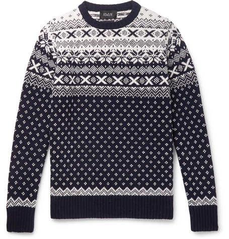 Lawrence Fair Isle Wool Sweater by Howlin'