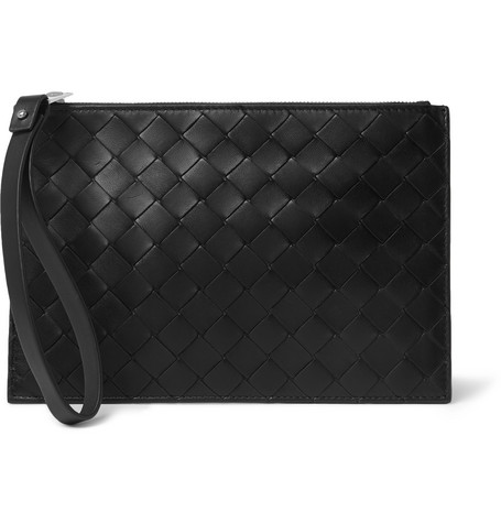 Bottega Veneta – Small Intrecciato Leather Pouch – Black