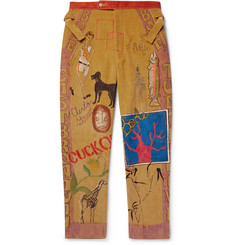 BODE Senior Hand-Illustrated Cotton-Corduroy Trousers