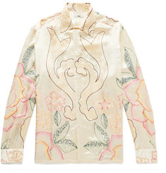 BODE Embroidered Satin-Twill Shirt