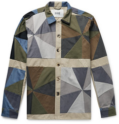 BODE Patchwork Cotton-Twill Shirt
