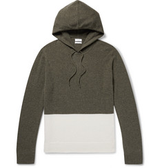 Onia Jamie Colour-Block Cashmere Hoodie