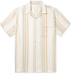 Onia Vacation Camp-Collar Striped Lyocell and Cotton-Blend Shirt
