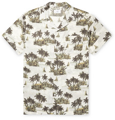 Onia Vacation Camp-Collar Printed Cotton and Modal-Blend Shirt