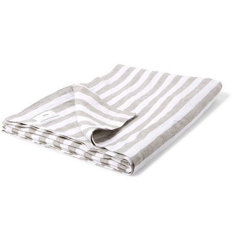 Onia Tops STRIPED LINEN BEACH BLANKET