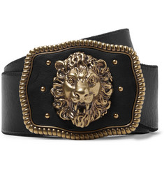 Gucci 5cm Black Leather Belt
