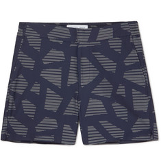 Frescobol Carioca Modernist Slim-Fit Mid-Length Jacquard Swim Shorts