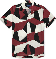 Frescobol Carioca Modernist Printed Camp-Collar Lyocell Shirt