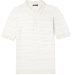 Frescobol Carioca Striped Merino Wool Polo Shirt