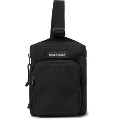 Balenciaga Explorer Logo-Appliquéd Canvas Messenger Bag
