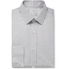 Charvet Grey Puppytooth Cotton Shirt