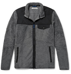 Outerknown Shell-Trimmed Cotton-Blend Fleece Jacket
