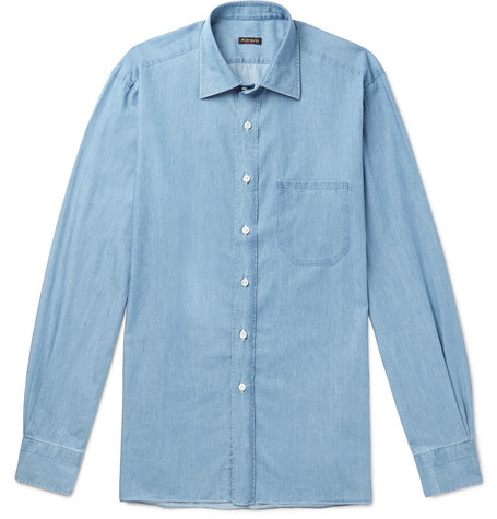 Rubinacci Cotton-Chambray Shirt