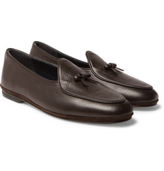 Rubinacci Marphy Full-Grain Leather Tasselled Loafers