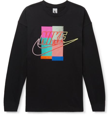 5e3cf9e4be28 Nike - Logo-Print Cotton-Jersey T-Shirt