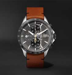 Baume & Mercier Clifton Club Indian Legend Tribute Scout Chronograph 44mm Stainless Steel and Leather Watch, Ref. No