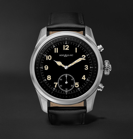 Montblanc Summit 2 42mm Stainless Steel and Leather Smart Watch