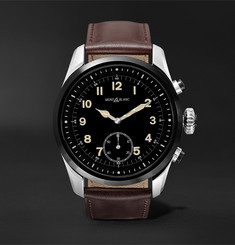 Montblanc - Summit 2 42mm Stainless Steel and Leather Smart Watch