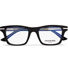 Cutler and Gross Square-Frame Acetate And Silver-Tone Optical Glasses