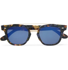 Cutler and Gross Square-Frame Tortoiseshell Acetate and Gold-Tone Sunglasses