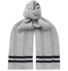 Mr P. Striped Wool Scarf