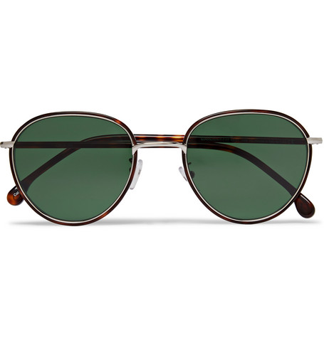 d3df8876a Paul SmithAlbion Round-Frame Tortoishell Acetate and Silver-Tone Sunglasses