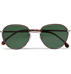 Paul Smith - Albion Round-Frame Tortoishell Acetate and Silver-Tone Sunglasses