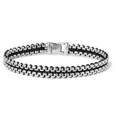 David Yurman Sterling Silver and Nylon Bracelet