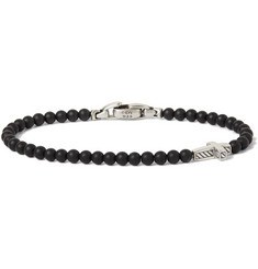 David Yurman - Onyx Sterling Silver Beaded Bracelet