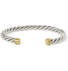 David Yurman - Cable Sterling Silver and 18-Karat Gold Cuff