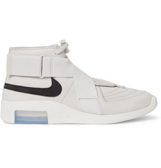Nike + Fear of God Nubuck, Suede and Canvas High-Top Sneakers