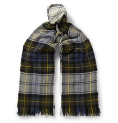 Connolly Fringed Checked Cashmere Scarf