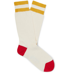 Connolly + Goodwood Striped Cotton Socks