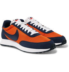 Nike Air Tailwind 79 Leather-Trimmed Suede and Shell Sneakers