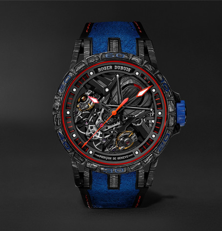 Roger Dubuis Excalibur Aventador S Limited Edition Skeleton 45mm Carbon, Rubber and Alcantara Watch, Ref. No. RDD