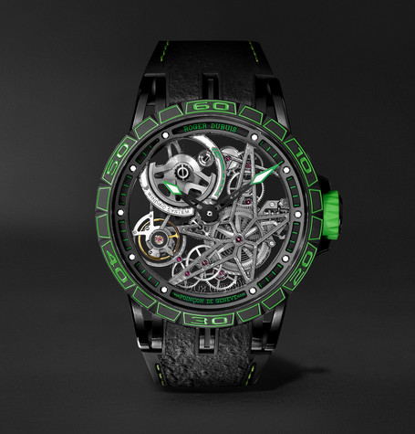 Roger Dubuis Excalibur Spider Pirelli Limited Edition Automatic Skeleton 45mm Titanium and Rubber Watch, Ref. No.