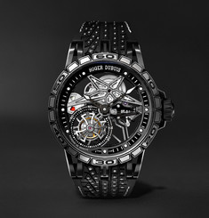Roger Dubuis Excalibur Sottozero Pirelli Limited Edition Automatic Skeleton 45mm Titanium and Rubber Watch