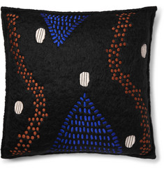 Jupe by Jackie Tepapa Embroidered Mohair Cushion Cover