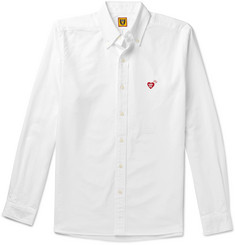 Human Made Button-Down Collar Logo-Embroidered Cotton Oxford Shirt