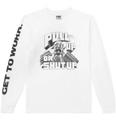 Deadlift Cotton-jersey T-shirt - White