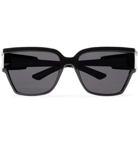 BALENCIAGA   Balenciaga - D-Frame Acetate Sunglasses - Black   Goxip