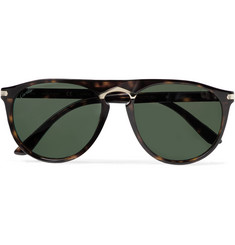 Cartier Eyewear Round-Frame Tortoiseshell Acetate and Gold-Tone Polarised Sunglasses