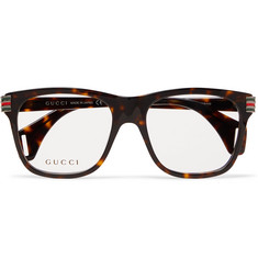 Gucci - Square-Frame Tortoiseshell Acetate Optical Glasses