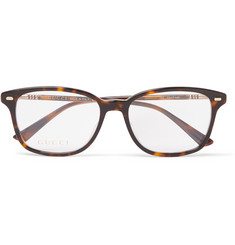 Gucci - Square-Frame Acetate and Gold-Tone Optical Glasses
