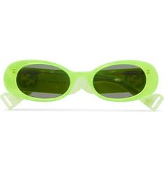 구찌 Gucci Round-Frame Acetate Sunglasses,Yellow