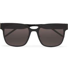 SAINT LAURENT - Square-Frame Metal Sunglasses