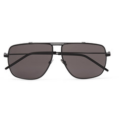 Saint Laurent Aviator-Style Gunmetal-Tone Sunglasses