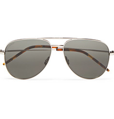 Saint Laurent Aviator-Style Silver-Tone Sunglasses
