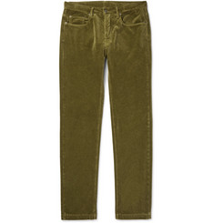 Massimo Alba Alunga Cotton-Velvet Trousers